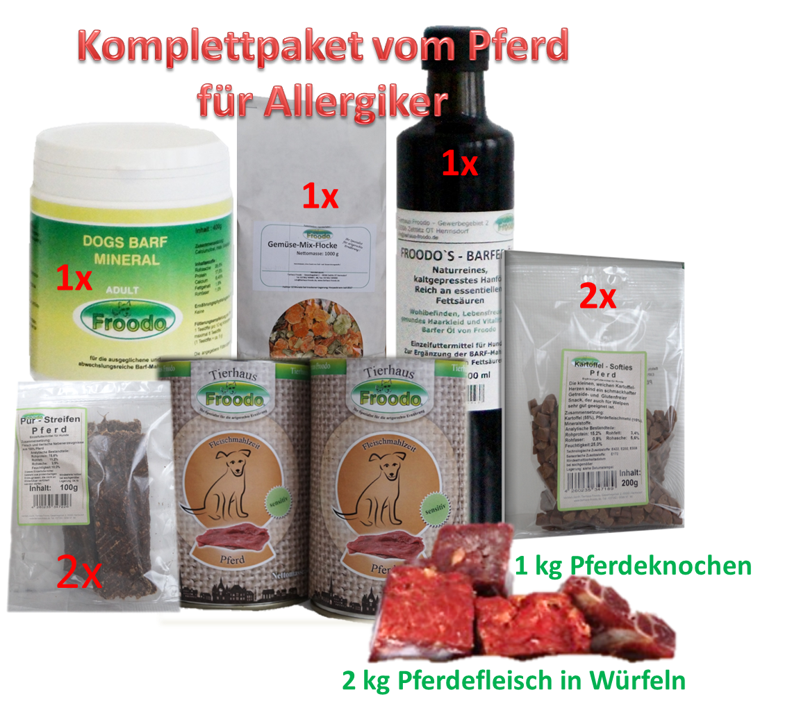 komplettpaket vom pferd f r allergiker hunde zoofachhandel. Black Bedroom Furniture Sets. Home Design Ideas
